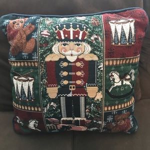 Other - 5/$25 Tapestry Nutcracker Christmas pillow